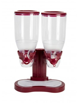 Alberto Double Cereal Dispenser Red/Clear 7.5x16.3x13 centimeter - 4553