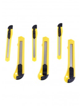 Lawazim 6-Piece Cutter Set Yellow/Black/Silver - 0040