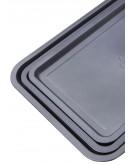 Betty Crocker 3-Piece Non-Stick Rectangular Pan Grey