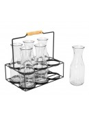 Alberto 7-Piece Drinking Glass Set With Stand Clear