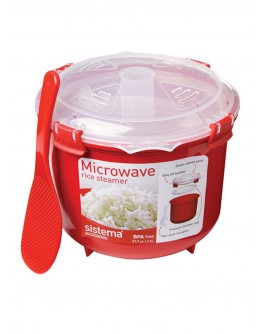 Sistema Microwave Collection Rice Cooker, 87.2 oz./2.6 L, Red - 1107