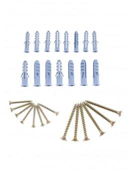 Lawazim Wooden Screw And Anchor Set Blue/Golden 9x18 centimeter