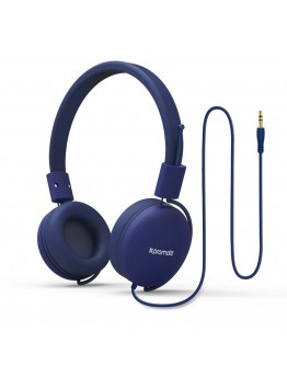On Ear Headphones For Kids With no Microphone Portable Headset Volume Limited Adjustable Headphones Blue