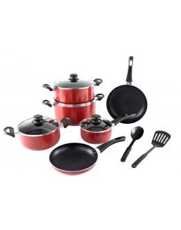 Alberto 12pcs non-stick Cookware Set, red - 6407