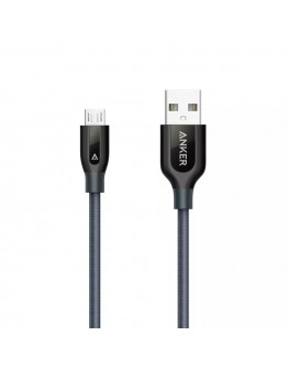 PowerLine Micro USB Cable Black 0.9 meter