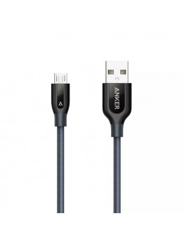 PowerLine Micro USB Cable Black 0.9 meter