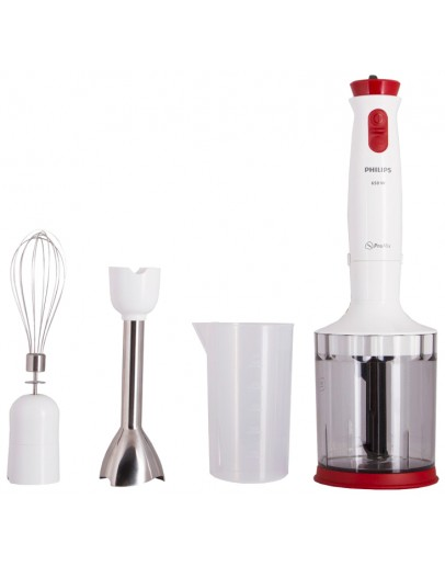 Philips HR1627 Daily Collection Hand blender 650 W, metal bar, ProMix, 0, 5 L Beaker, 1 L Chopper,
