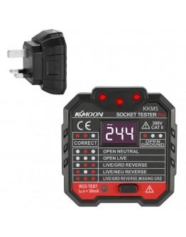 UK 30mA Socket Tester Digital Display Socket Detector Portable Circuit Polarity Voltage Tester