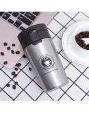 كوب قهوة حافظ للحرارة و البرودة 380 مل , لون فضي