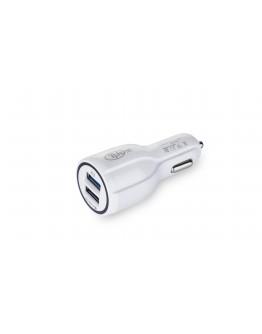 شاحن Tphone للسيارة منفذين, أبيض