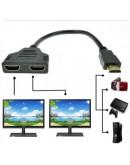 1080P 2 Port HDMI Splitter 1 In 2 Out Male to Femal  Adapter  إتش دي أم آي متفرع 1 في 2 أوت