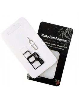 محول شريحة اتصال نانو - Noosy sim card adapters from nano to micro to standards sim cards
