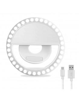 مصباح دائري احترافي لالتقاط صور السيلفي قابل للشحن بمنفذ USB - selfie ring light