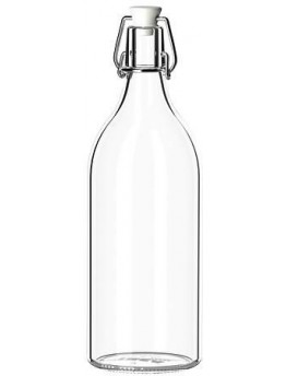 قنينة مع سدادة - زجاج شفاف - حجم 0.5 ل